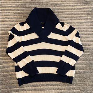 Theory Navy/Cream sweater